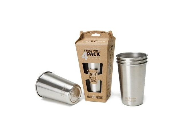 Klean Kanteen Pint Cup 16oz 4-pack (473 ml) Stainless (borstad finish)
